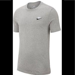 Nike Short Sleeve Gray 100% Cotton Tee Shirt M NWT
